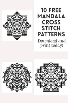 Looking for easy Mandala cross stitch charts? modern, simple, mandalas based on circles to embroider. Blackwork Cross Stitch, Xmas Cross Stitch, Blackwork Embroidery, Hand Embroidery Patterns, Cross Stitching, Cross Stitch Embroidery, Cross Stitch Patterns Free Easy, Cross Stitch Sampler Patterns, Cross Stitch Charts