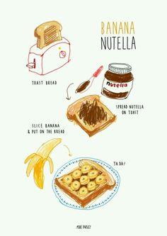 Banana & Nutella sandwich