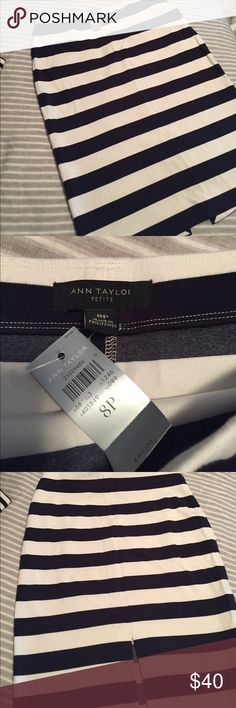 NWT Ann Taylor Blue and White Striped Skirt 8p ❤️ NWT Ann Taylor Blue and White Striped Skirt 8p ❤️ Ann Taylor Skirts Midi