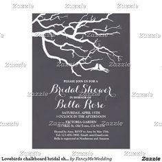 Tea Bag High Tea Bridal Shower Invitation Elegant Chalkboard