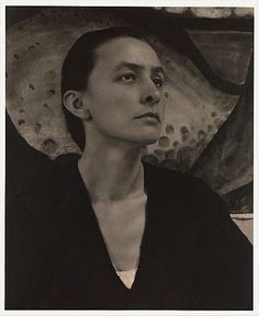 Georgia O'Keeffe--Georgia O'Keeffe Alfred Stieglitz (American, Hoboken, New Jersey 1864–1946 New York City). Stieglitz's photos of Georgia O'Keeffe are legendary. They eventually married. Date: 1918 Medium:Platinum-palladium print