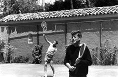 1957. Robert F. Kennedy and John F. Kennedy
