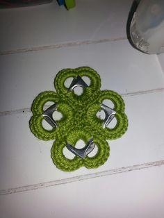 Anniegurumi: Hartjes bliklipjes keychain crochet