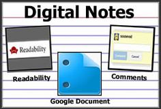 Cool Tools for 21st Century Learners: Digital Notes: Combine Readability & Google Docs