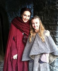 Carice van Houten and Kerry Ingram ~ Melisandre and Shireen Baratheon ~ Game of Thrones behind the scenes.
