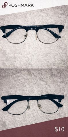 Vintage Clubmaster Glasses  Non Prescription These are very unique and fashionable, it's adds so much style to an outfit, These are non prescription glasses!!! Amazon Accessories Glasses