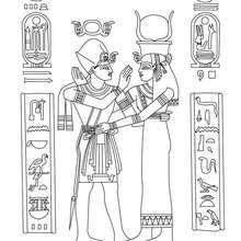 Coloriage : Papyrus avec hieroglyphes