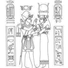 ANCIENT EGYPT PAPYRUS to color online - Coloring page - COUNTRIES Coloring Pages - EGYPT coloring pages - HIEROGLYPH AND PAPYRUS coloring pages