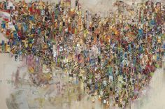 """Saatchi Online Artist: Victoria Horkan; Paint, 2013, Mixed Media """"Fragments"""""""