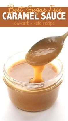 Best Low Carb Caramel Sauce Simply the best keto sugar-free caramel sauce. Accept no substitutes. Come and check out how I keep it soft and pourable for days! via the best keto sugar-free caramel sauce. Accept no substitutes. Desserts Keto, Sugar Free Desserts, Sugar Free Recipes, Low Carb Recipes, Stevia Desserts, Diet Recipes, Low Carb Marmelade, Low Carb Deserts, Keto Sauces