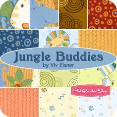 Jungle Buddies Fat Quarter Bundle Viv Eisner for Wilmington Prints - Fat Quarter Shop