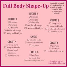 Full Body Circuit Training