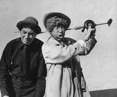 olga-4711:   Chico and Harpo Marx, 1959.