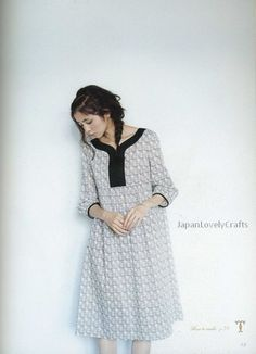 Adult Couture by Yoshiko Tsukiori - Japanese Sewing Patterns Book for Women - Natural One-Piece Dress, Tunic Blouse - B197
