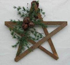 Weihnachtssterne holz basteln vorlagen kinder grün