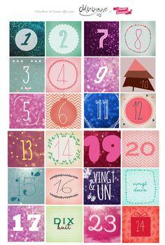 calendrier-avent   Minireyve & Poulette Magique