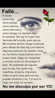 Spanish Inspirational Quotes, Spanish Quotes, Reminder Quotes, Me Quotes, Famous Quotes, Love Phrases, Motivational Phrases, Mother Quotes, Woman Quotes