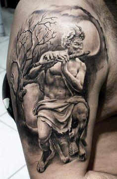 Tattoo by Proki,  Pan, I love this!