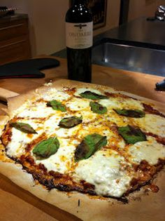 Low Carb Pizza - I have made the cauliflower crust before, and it is pretty good :)