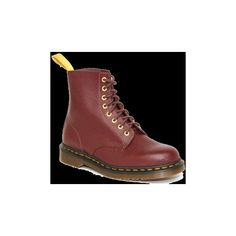 Dr Martens 50th Year Anniversary Vintage 1460 Boots in Cherry Red found on Polyvore featuring shoes