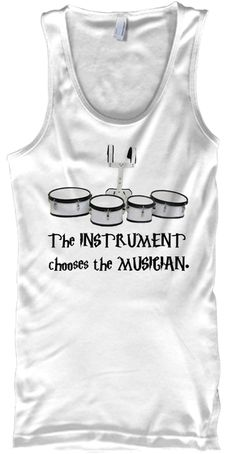 The Instrument Chooses The Musician White Tank Top Front
