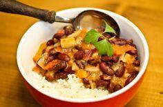 Afrikanische Soße mit Kidneybohnen - und wieder Erdnuss