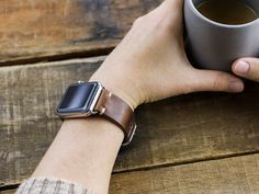 Choice Cuts Industries -Horween Brown Nut Apple Watch Band with Leather Loops Apple Watch Leather Strap, Leather Watch Bands, Apple Watch 42mm, Apple Watch Bands, Apple Watch Wristbands, North Carolina, Hardware, Note, Smart Casual
