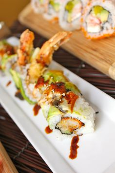 Dragon Roll: A Bamboo classic! Bamboo Grand Cayman