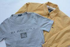 USED&VINTAGEよりBurberrys ビートチェックカラーブルゾン & BURBERRY LONDON ロゴTシャツ GRAY入荷☆