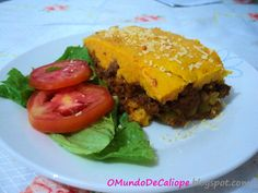 O Mundo de Calíope: Torta salgada de cenoura