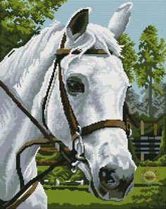 Gallery.ru / Фото #1 - 3 - TATO4KA6 Cross Stitch Horse, Bargello, Needlepoint, Cross Stitch Patterns, Giraffe, Horses, 3, Bouquet, Gallery
