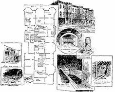 The Murder Castle por dentro, donde H.H. Holmes torturó y mató a 200 personas, en su mayoría mujeres.    http://tejiendoelmundo.wordpress.com/2010/04/12/h-h-holmes-el-asesino-que-construyo-una-autentica-mansion-del-horror/#