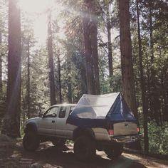DIY Toyota Tacoma truck tent.