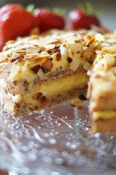 Mandeltårta – schwedischer Mandelkuchen | Bake it!