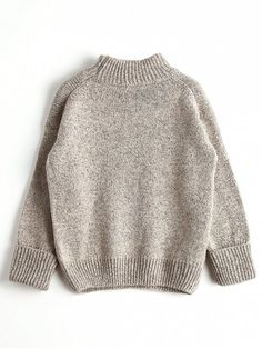 Loose Heathered Mock Neck Sweater - APRICOT ONE SIZE