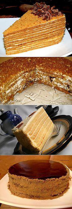 Рецепты вкуснейшего медовика с фото.