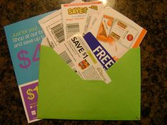 """Join a Coupon Train:  A coupon train is an envelope filled with non-expired coupons that is sent between riders. When you receive the """"train"""", take the coupons you will use and replace those with coupons for your fellow passengers. You then mail it to the next address on the list."""