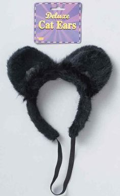 Create or complete your Kitty Cat Costume Look with our Adult Black Cat Ears Headband, which is the ideal costume accessory for a quick and easy Halloween Costume. Our Adult Black Cat Ears Headband is packaged and sold individually and comes in one size to fit most teens and adults.