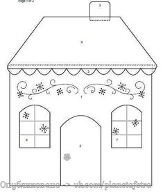 House template for Embroidery Pattern. Applique Templates, Applique Patterns, Applique Quilts, Embroidery Applique, Quilt Patterns, Embroidery Designs, House Quilt Block, Quilt Blocks, Fabric Houses