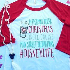 Disney Shirt // Disney Christmas Shirts // Disney Raglan // Christmas – LittleButFierceCo