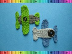 Airplane Applique - CROCHET PATTERN. $4.95