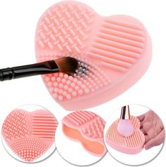 This heart-shaped makeup scrubber that will keep all your brushes in good condition.