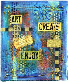 Ro Bruhn art journal page. Great inspiration for the cover of an art journal