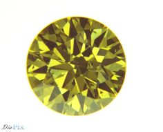 0.44 Ct. Round Brilliant SI1 Fancy Vivid Yellow