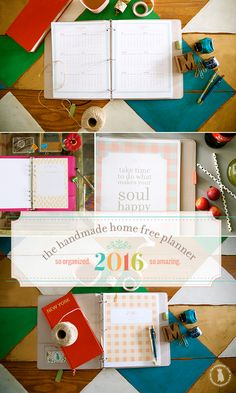 FREE PDF planner for 2016. Comes with a lot of design choices, and you can pick and choose which pages best fit your needs