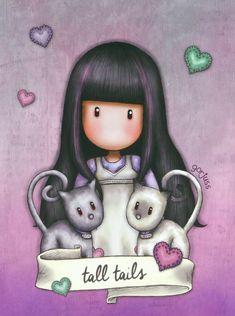 Notte Cute Images, Cute Pictures, Muñeca Diy, Santoro London, Watercolor Cards, Nursery Prints, Cute Illustration, Woodland Nursery Decor, Cute Drawings