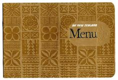 Air New Zealand Menu