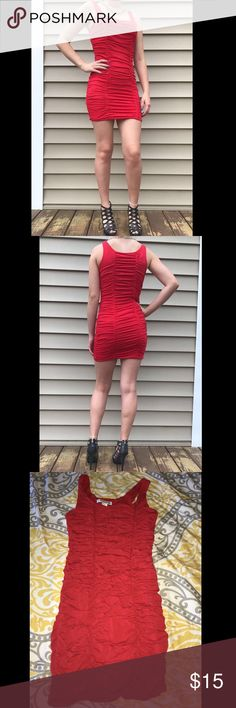 Forever 21 tight dress Cute, tight, red spandex dress. Great condition, worn once :) Forever 21 Dresses Mini