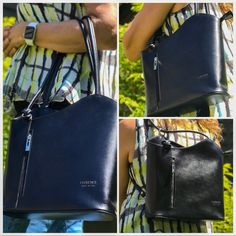 From work to weekend - we love this backpack purse. This versatile handbag has a simple sleek design that is perfect for business and converts to a backpack for more casual weekend wear. This Navy Blue is stunning - available in many colors. #backpackbags #handbagspurses #businesscasualoutfits #businesscasualoutfitsyoungprofessional #pursesandhandbags #bluefashion #italianleatherbag #italianleatherhandbags Backpack Purse, Leather Backpack, Leather Bag, Casual Weekend, Weekend Wear, How To Make Handbags, Purses And Handbags, Italian Leather Handbags, Convertible Backpack
