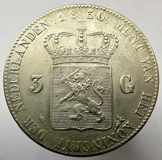 Currently at the Catawiki auctions: The Netherlands - 3 guilder 1830 (overstrike over 24) William I